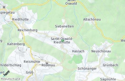 Stadtplan Sankt Oswald-Riedlhütte