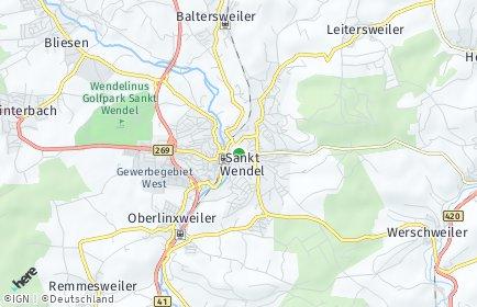 Stadtplan Sankt Wendel