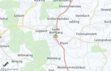 Stadtplan Sankt Wolfgang