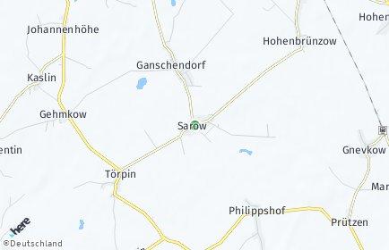 Stadtplan Sarow