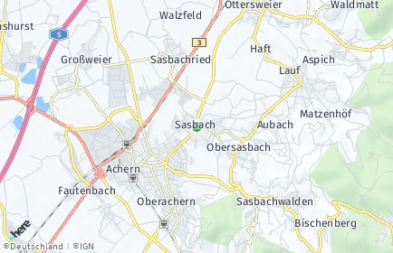 Stadtplan Sasbach bei Achern