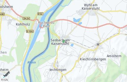 Stadtplan Sasbach am Kaiserstuhl