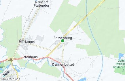 Stadtplan Sassenburg