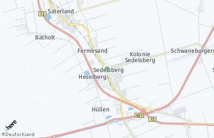 Stadtplan Saterland