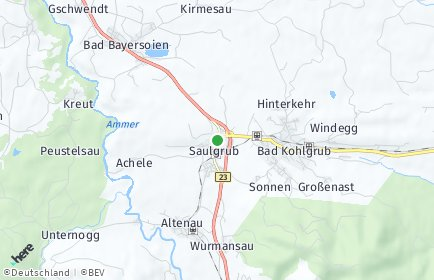 Stadtplan Saulgrub