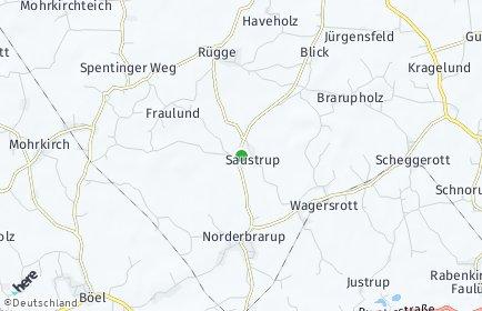 Stadtplan Saustrup