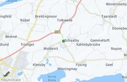 Stadtplan Schaalby