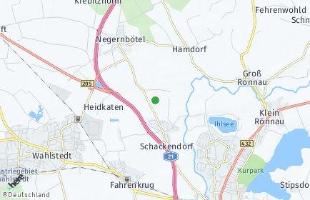 Stadtplan Schackendorf bei Bad Segeberg