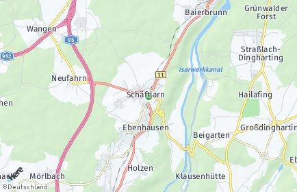 Stadtplan Schäftlarn OT Schäftlarn