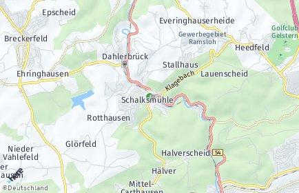 Stadtplan Schalksmühle