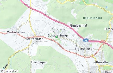 Stadtplan Schauenburg