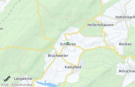 Stadtplan Schauren bei Idar-Oberstein