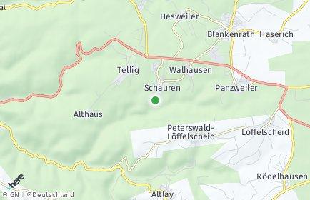 Stadtplan Schauren bei Blankenrath