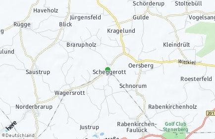 Stadtplan Scheggerott