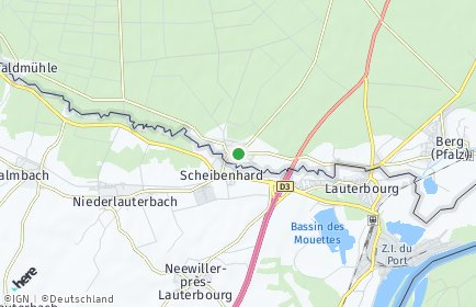 Stadtplan Scheibenhardt