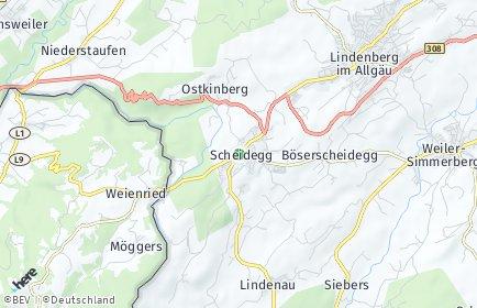 Stadtplan Scheidegg
