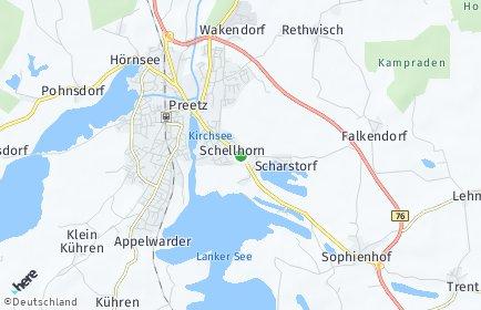 Stadtplan Schellhorn bei Preetz