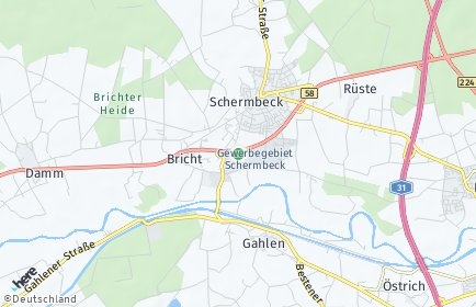 Stadtplan Schermbeck
