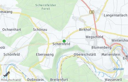 Stadtplan Schernfeld