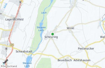 Stadtplan Scheuring