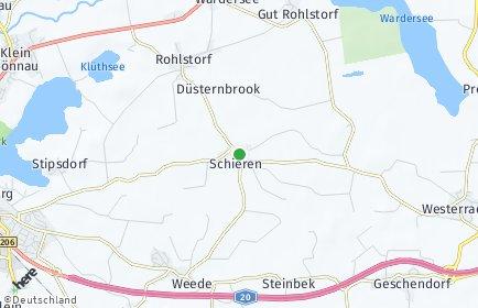 Stadtplan Schieren bei Bad Segeberg