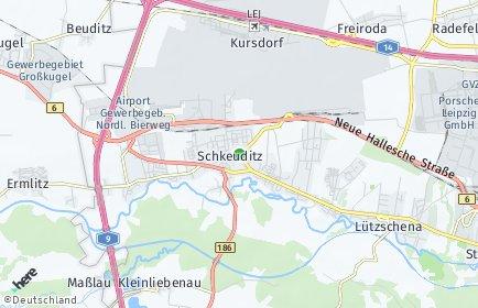 Stadtplan Schkeuditz