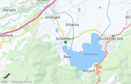 Stadtplan Schlehdorf
