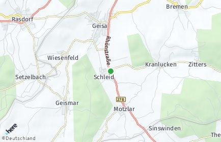 Stadtplan Schleid (Rhön)