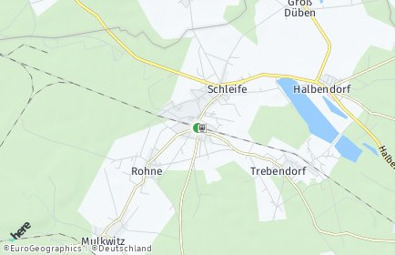 Stadtplan Schleife (Sachsen)