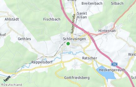 Stadtplan Schleusingen