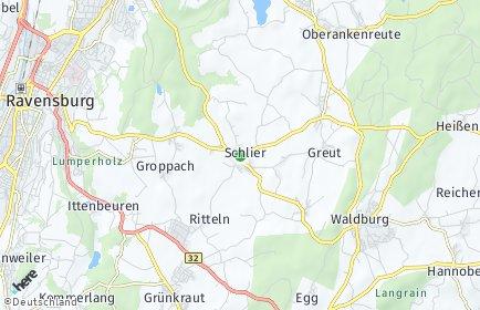 Stadtplan Schlier