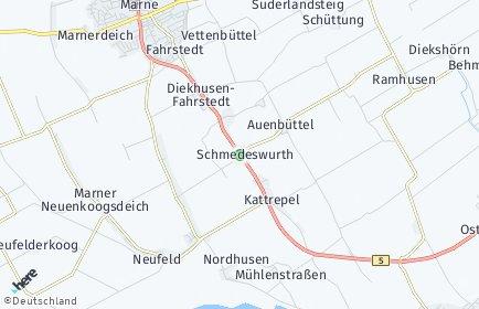 Stadtplan Schmedeswurth