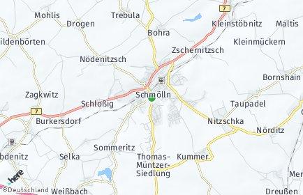 Stadtplan Schmölln