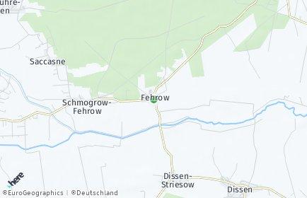 Stadtplan Schmogrow-Fehrow