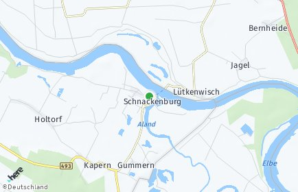 Stadtplan Schnackenburg