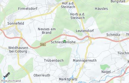 Stadtplan Schneckenlohe