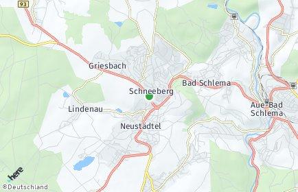Stadtplan Schneeberg (Erzgebirge)