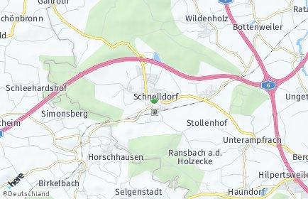 Stadtplan Schnelldorf