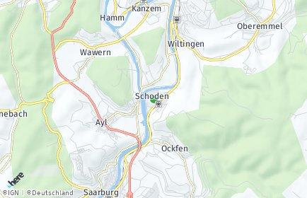 Stadtplan Schoden