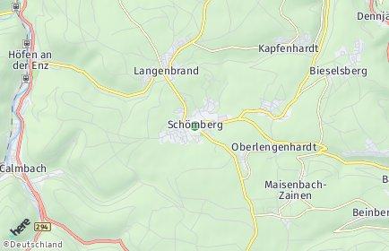 Stadtplan Schömberg (Landkreis Calw)