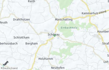 Stadtplan Schönau (Rottal)
