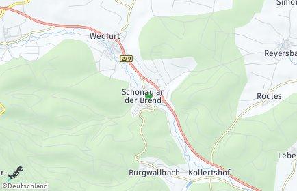 Stadtplan Schönau an der Brend