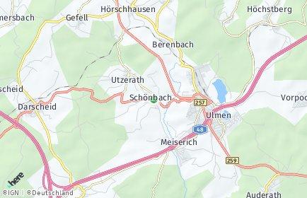 Stadtplan Schönbach (Eifel)