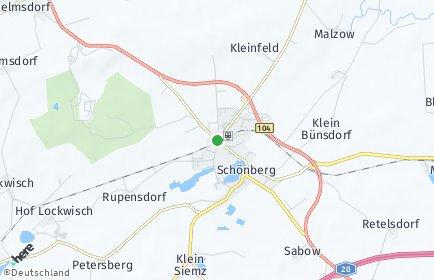 Stadtplan Schönberg (Mecklenburg)