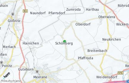 Stadtplan Schönberg (Sachsen)