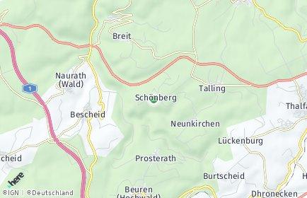 Stadtplan Schönberg bei Thalfang