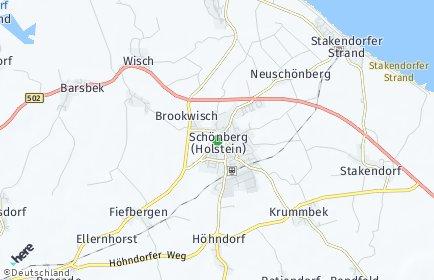 Stadtplan Schönberg (Holstein)