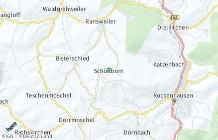 Stadtplan Schönborn (Pfalz)