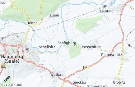 Stadtplan Schönburg (Saale)