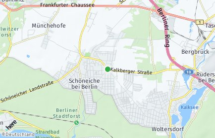 Stadtplan Schöneiche bei Berlin